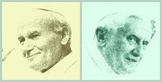 John Paul and Benedict