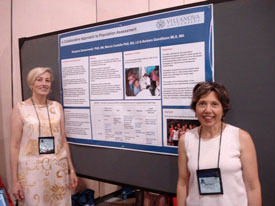 Suzanne Zamerowski, PhD., R.N. (l.) and Barbara Quintiliano at the National League for Nurses Education Summit
