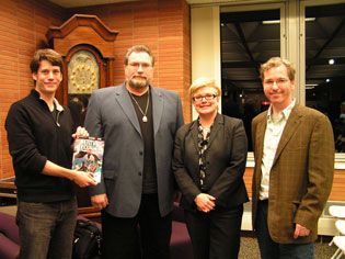 (l. to r.) Brian A. Lynch, Jonathan Maberry, Mary Beth Simmons, Matt Phelan