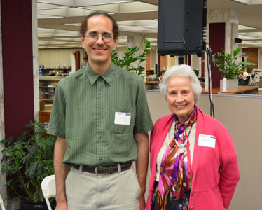 Demian Katz with Lydia Schurman, the recepient of the Popular Culture Lifetime Achievement Award.
