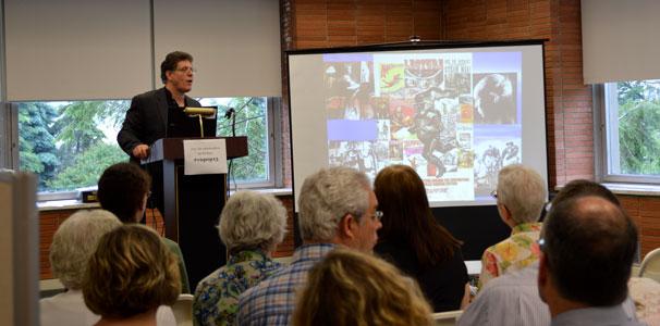 Joe Rainone, keynote speaker, discusses the creation of Steam Man.