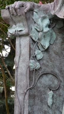 Mendel statue peas