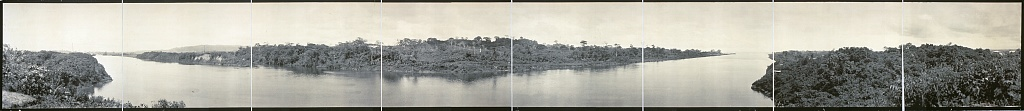 Panoramic image of the Atlantic entrance to the Panama Canal from the Library of Congress  http://www.loc.gov/pictures/item/2007663303/
