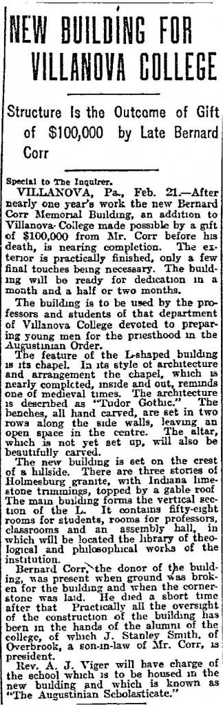 Corr Hall 1914