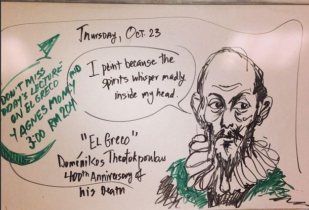El Greco doodle