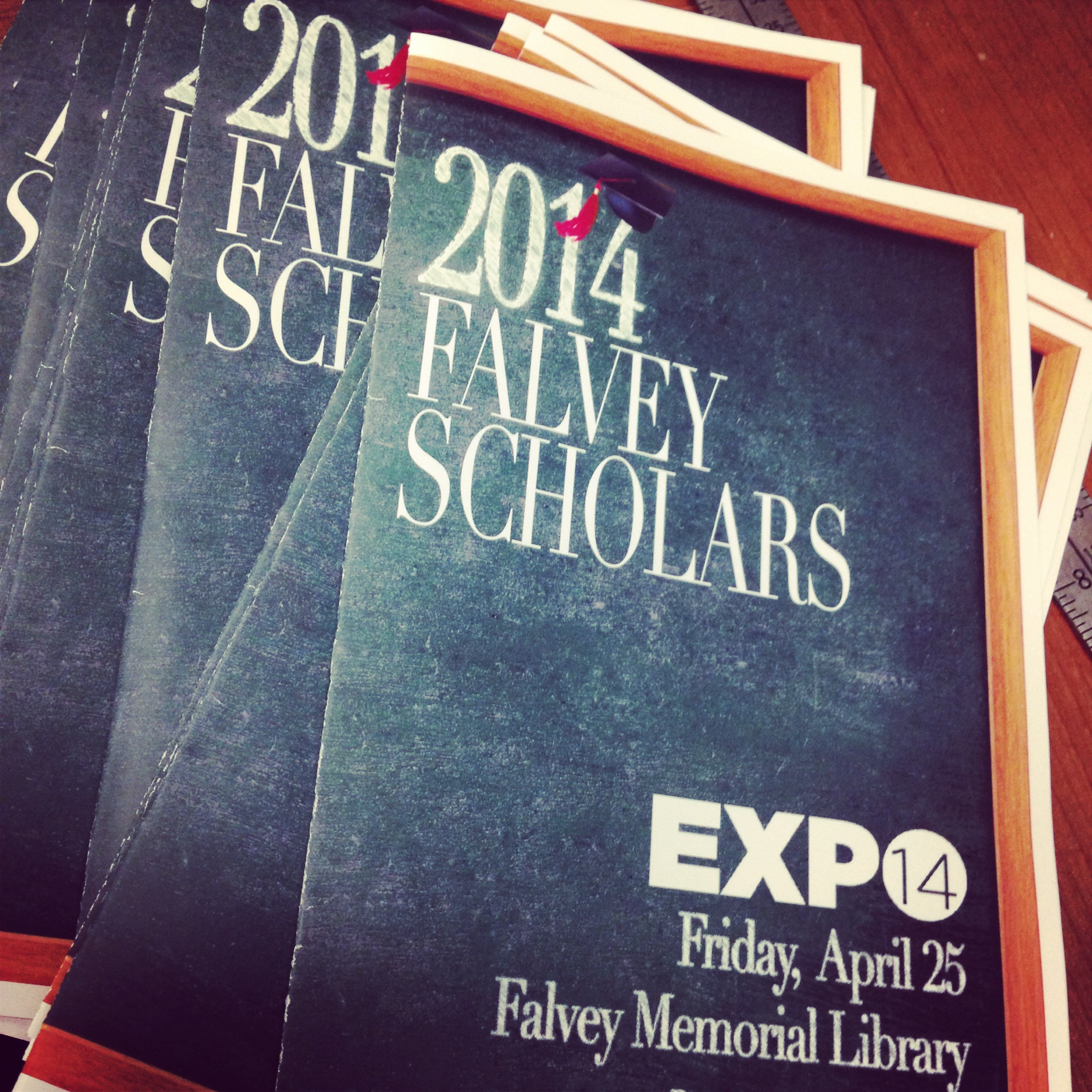 And we celebrated our Falvey Scholars