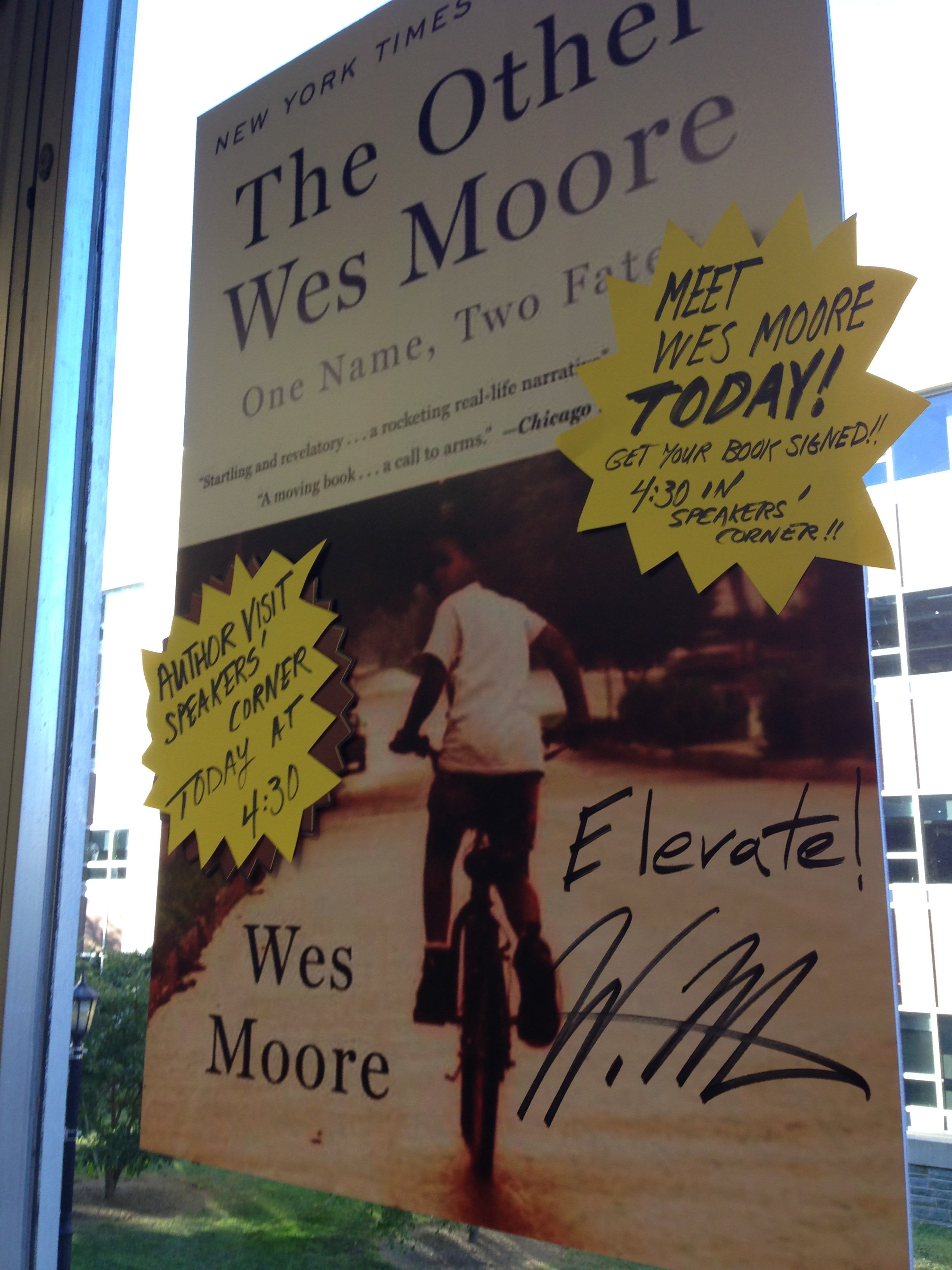 A visit from Wes Moore, author of the One Book Villanova 2014-15 selection, The Other Wes Moore