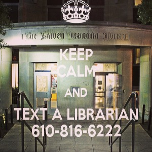We reminded students to text a librarian,
