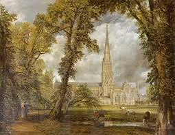 """John Constable - Salisbury Cathedral from the Bishop's Garden - Google Art Project"" by John Constable - SQHNHPBhfP7FBg at Google Cultural Institute,  Licensed under Public Domain via Wikimedia"