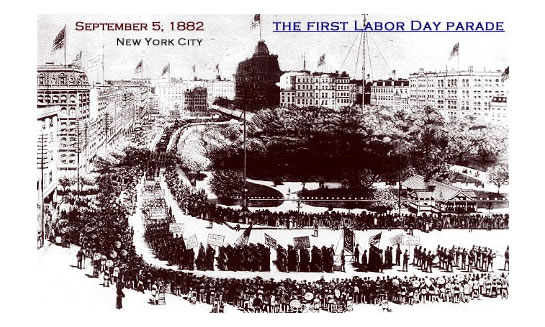a postcard of the first Labor Day parade