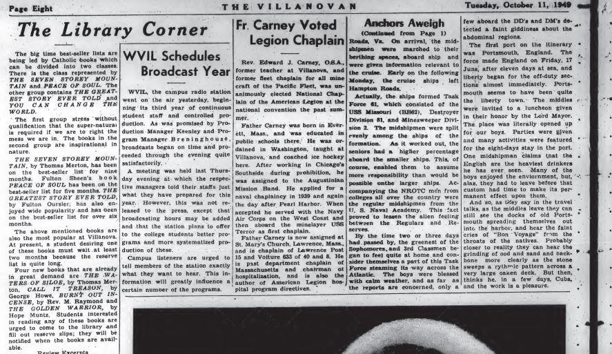 Library Corner Oct 11 1949