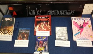 Mini exhibit of Dante-related books and movies.