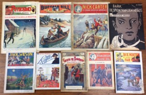 A selection of international dime novels