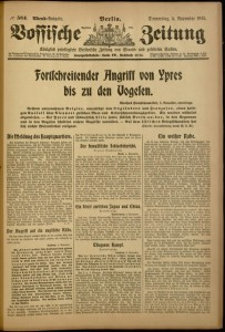 Vossische Zeitung, No 564, Evening Edition, November 5, 1914.