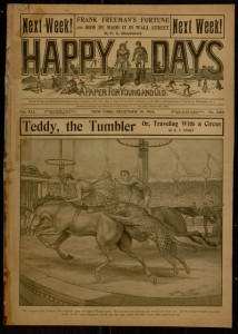 Front cover, Happy days : a paper for young and old, v. XLI, no. 1053, December 19, 1914.