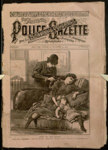 Front cover, The national police gazette, v. LIX, no. 744, Saturday, December 12, 1891