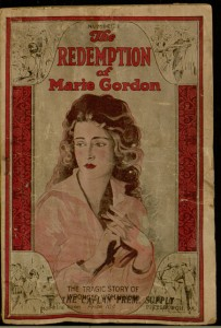 Front cover, The redemption of Marie Gordon : the tragic story of wronged womanhood, no. 1