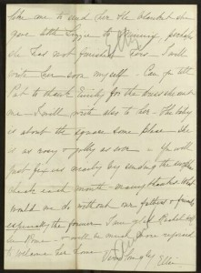 "Letter, To: ""My dear Papa"" (William T. Sherman) From: Ellie, October 3, 1881, Back"