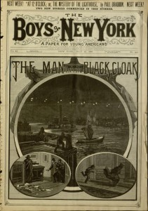 Front cover, The Boys of New York : a paper for young Americans, v. 11, no. 569, July 10, 1886