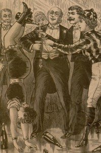 Cover selection, the illustrated police news, law courts and weekly record, v. 44, no. 1217, February 15, 1890.