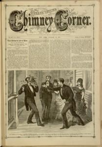 Front cover, Frank Leslie's Chimney Corner, v. XXV, no. 647, October 20, 1877.