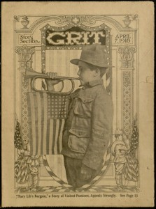 Front cover, Grit (Story Section), no. 19, Story Section no. 1212, April 7, 1918