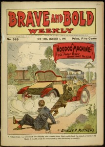 Front cover, A hoodoo machine; or, The Motor Boys' runabout no. 1313