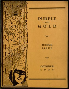 Purple and Gold, v. IV, no. 1, Junior Issue, October, 1936.