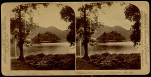 "Stereogram, ""Katrina's Lake and Island, Scotland"", 1893."