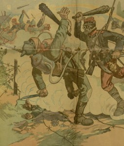 Front cover detail,The Saturday blade, v. XXVIII, no. 22, Saturday, November 13, 1915