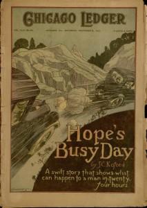Front cover, Chicago Ledger, v. XLIX, no. 46, Saturday, November 12, 1921