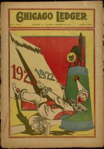 Front cover, Chicago Ledger, v. L, no. 52, Saturday, December 30, 1922