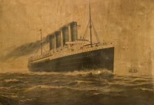 Lithograph, Lusitania.