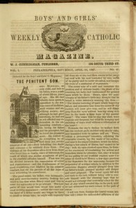 p. [369], the Boys' and Girls' Weekly Catholic Magazine, v. 1, no. 47, Saturday, April 24, 1847