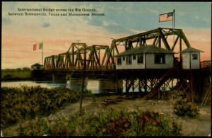 "Postcard, blank, ""International Bridge across the Rio Grande between Brownsville Texas and Matamoros"
