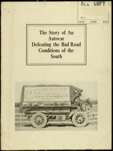 The story of an Autocar defeating the bad road conditions of the South