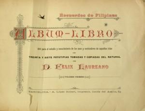 Title page of Recuerdos de Filipinas by Felix Laureano.
