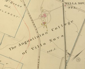 "Selection, Plate 14, ""The Augustinian College of Villa Nova"", 1881"