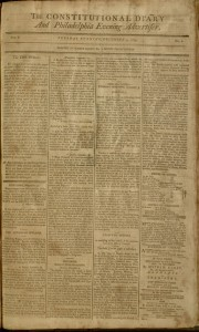 [1] p., the Constitutional diary and Philadelphia evening advertiser, v. I, no. 2, December 3, 1799