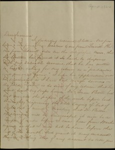 "Front, Letter, To: ""Dear Mamma"" (Ellen Maitland O'Reilly) From: Robert, [April 5, 1864]"