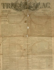 Front cover, True Flag, v. VII, no. 16, Saturday February 6, 1858