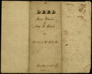 Deed, James Fowsier to Mary F. Lynch, for Lot No. 126 in Thos. Scott's Plan [May 1837]