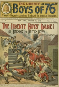 Front cover, The Liberty Boys' dare; or, Backing the British down