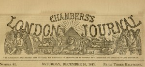 Masthead, [385] p., Chambers's London Journal of History, Literature, Poetry, Biography, and Adventure, v. 2, no. 81, December 10, 1842