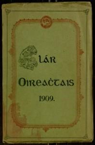 Front cover, Clár Oireactais 1909.
