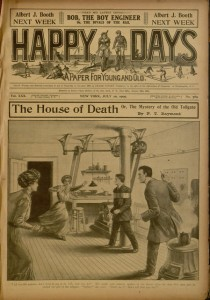 Front cover, Happy days : a paper for young and old, v. XXX, no. 769, July 10, 1909