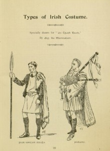 "p. 99, ""Types of Irish Costume"", from An Ċraoḃ-ruaḋ"