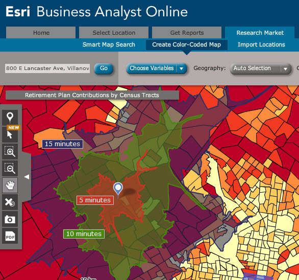 Falvey Memorial Library Esri Business Analyst Online