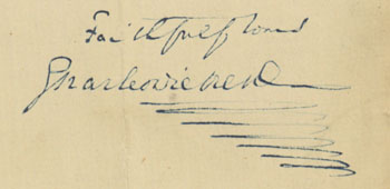 "Signature: ""Faithfully yours, Charles Dickens"""