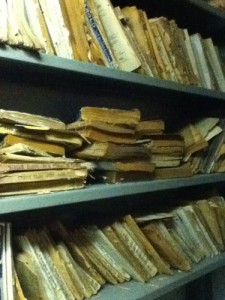 Photo of the books we rescued